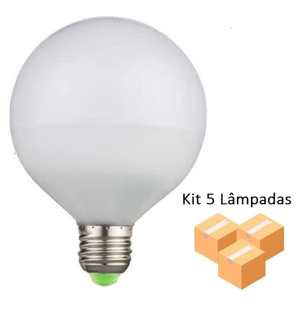 Kit 5 Lâmpadas De Filamento Led G95 Leitosa 4w - GMH
