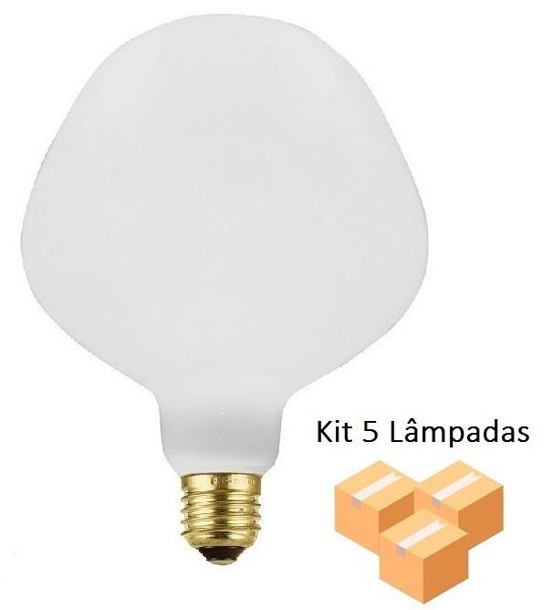 Kit 5 Lâmpadas De Filamento Led P130 Leitosa 4w - GMH
