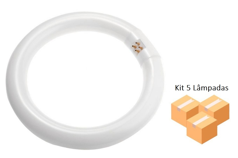 Kit 5 Lâmpadas Fluorescente Circular Bivolt 32w T9 BRASFORT - 8382