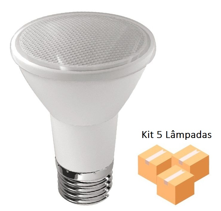 Kit 5 Lâmpadas Led Par20 7w Verde - Luz Sollar