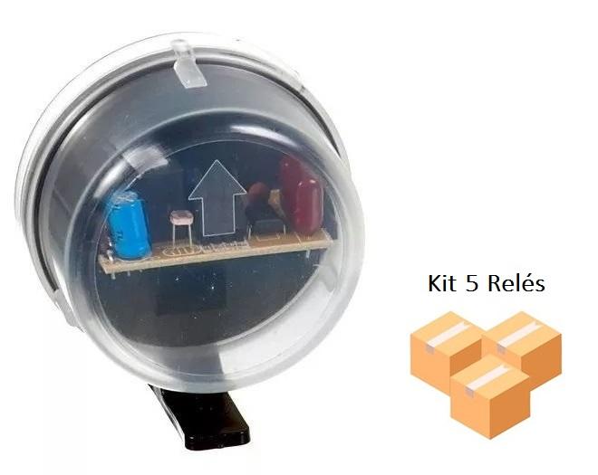 Kit 5 Relés Fotocélula Externo Qualitronix - Qr51