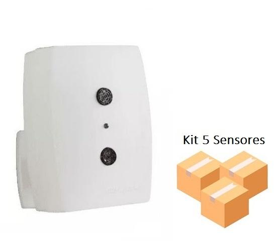 Kit 5 Sensores De Presença Interruptor Ultrasônico Qu60 Qualitronix