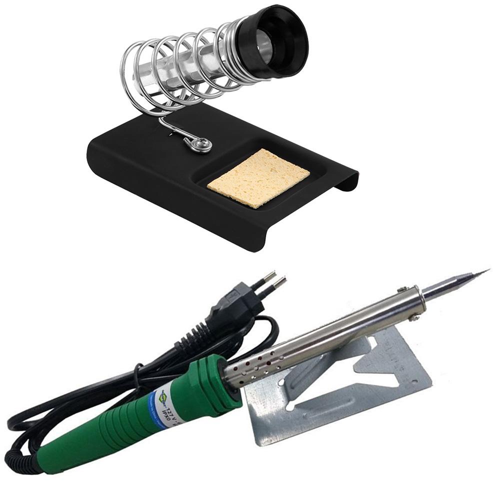 Kit Ferro de Solda 60w 220v + Suporte para Ferro