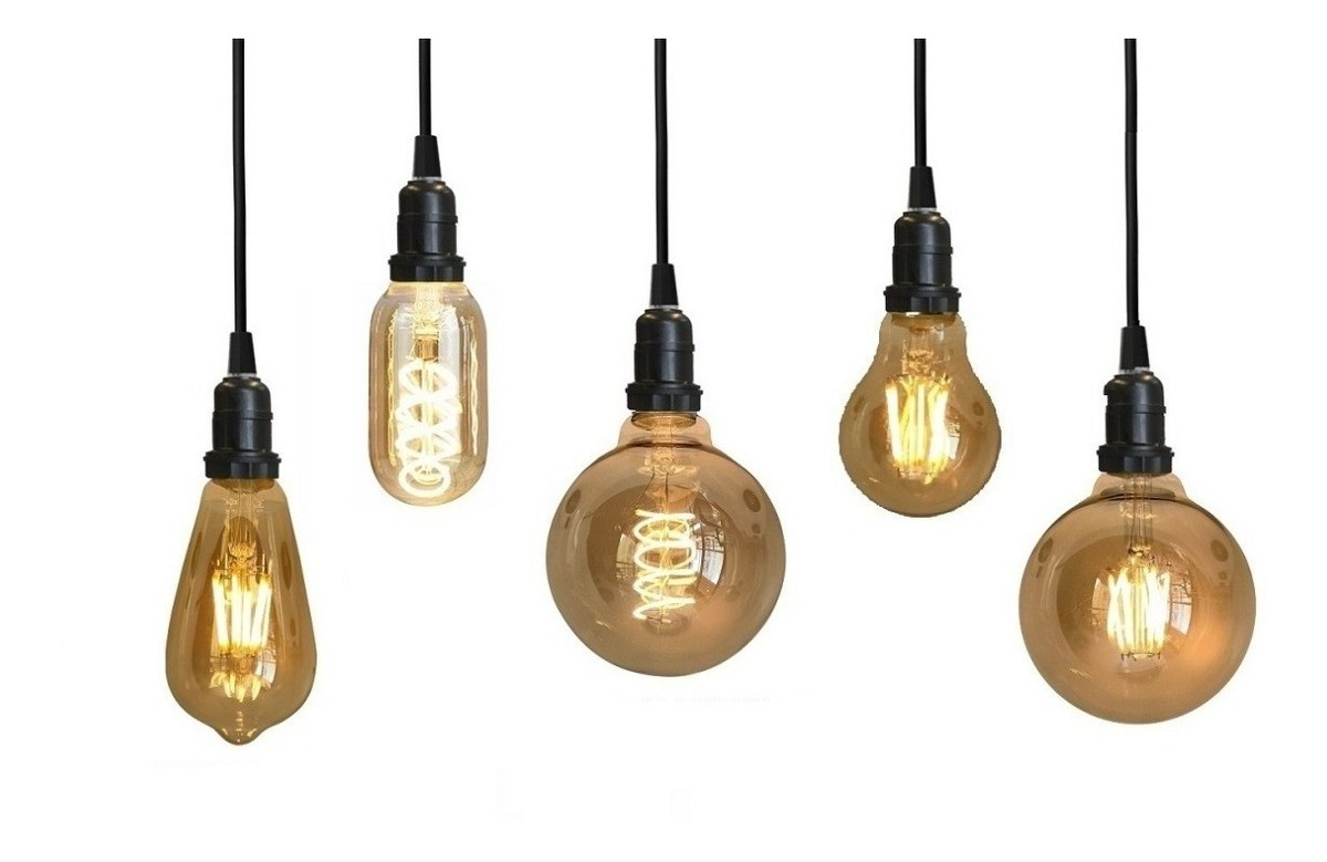 Kit Lâmpada Retrô Decorativa Vintage 4W Led