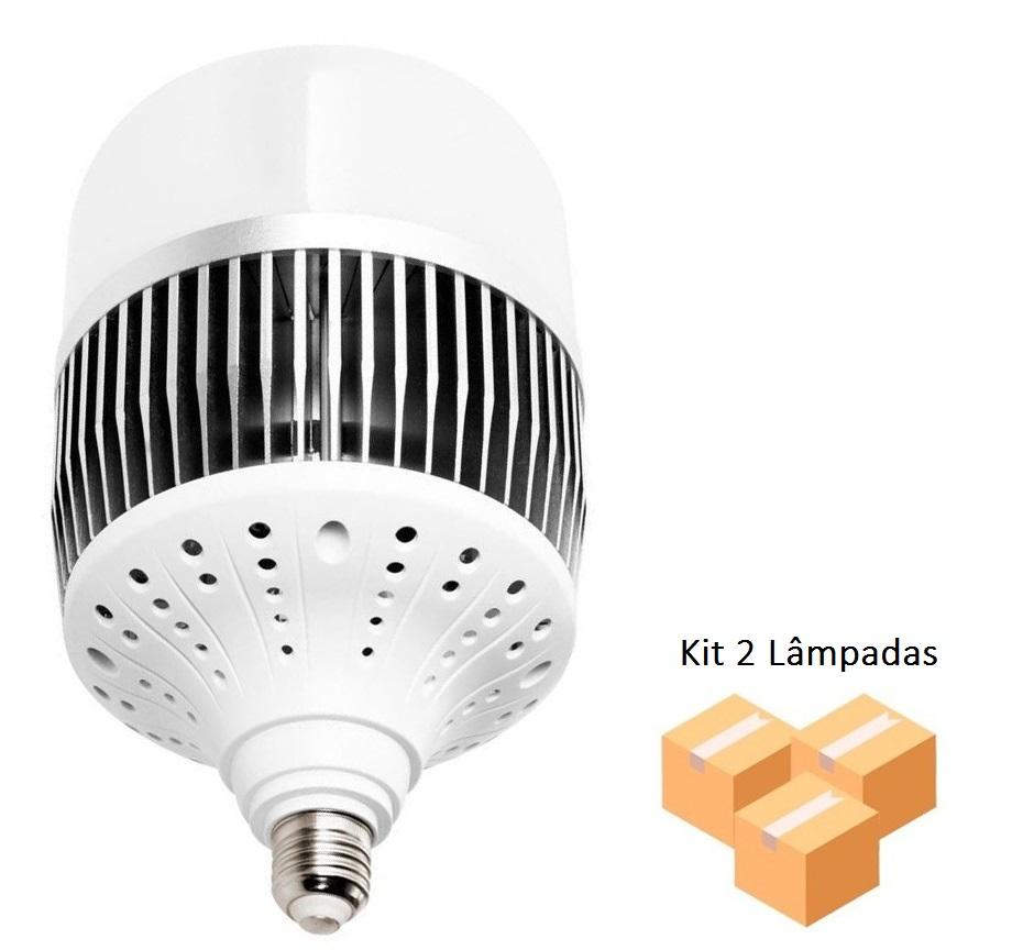 Kit 2 Lâmpadas Alta Potência Led 150w 6500k E40 T170 - LUZ SOLLAR