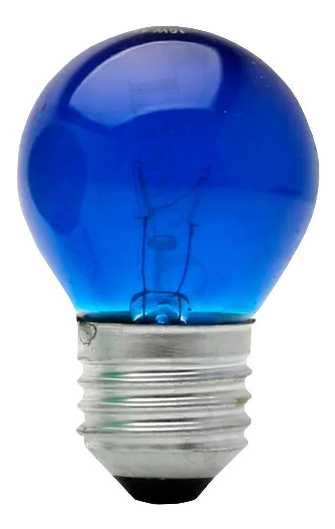 Lâmpada Bolinha 7w 127v E27 - Azul