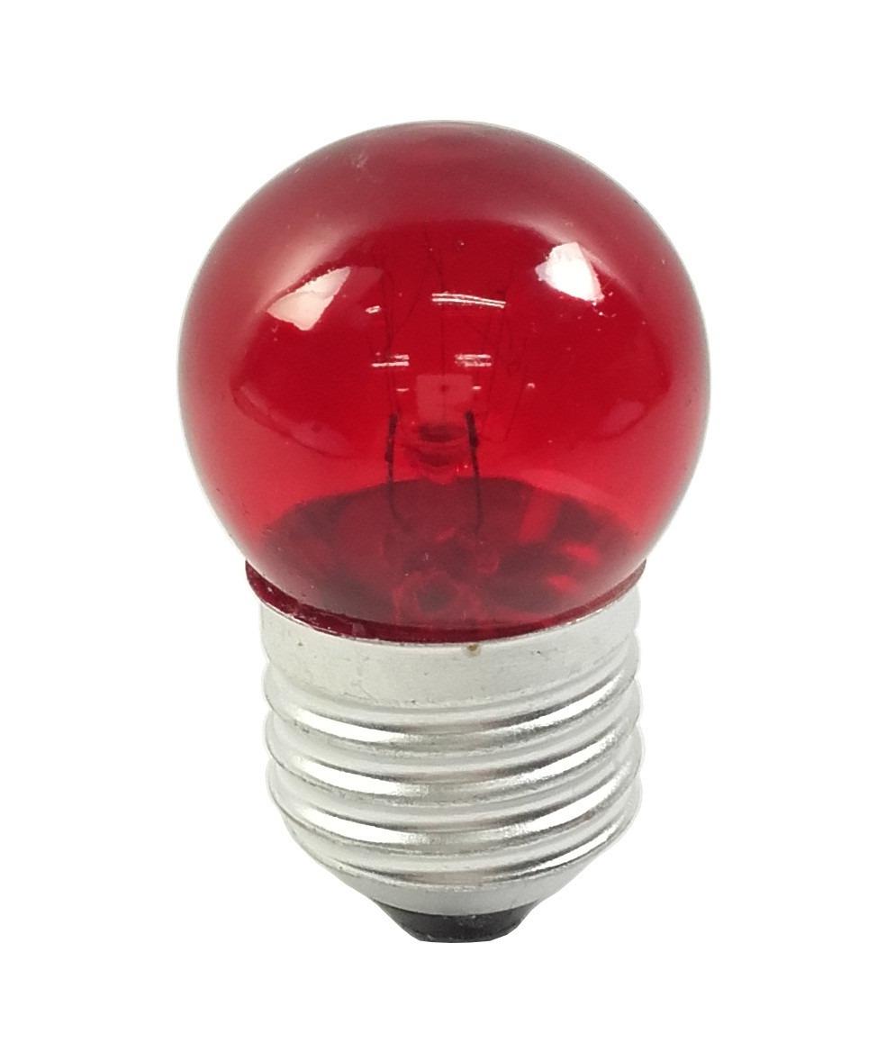 Lâmpada Bolinha 7w 127v E27 - Vermelha