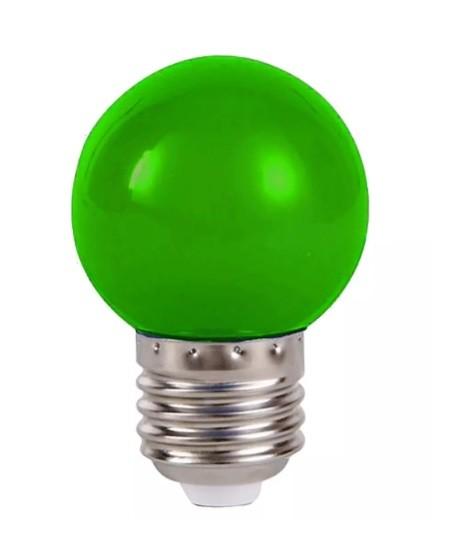Lâmpada Bolinha Led 1w 127v Verde - CTB
