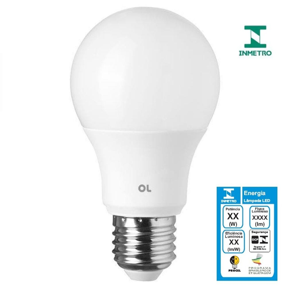 Lâmpada Bulbo Led 7w 6500k Ol Iluminação