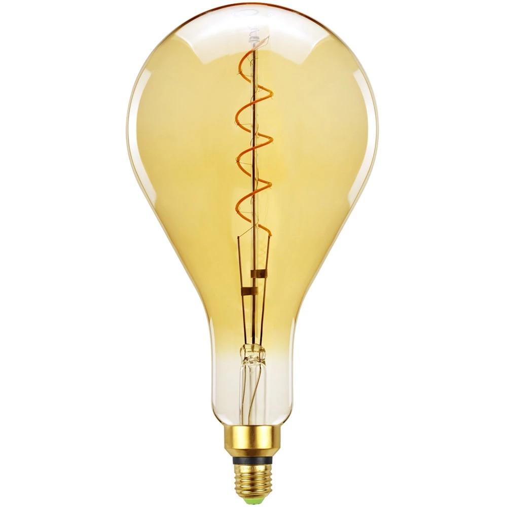 Lâmpada de filamento LED A160 Spiral 4W Âmbar - GMH