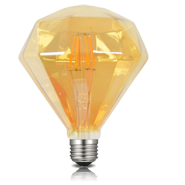 Lâmpada de Filamento LED D95 Diamante Squirrel Cage 4W
