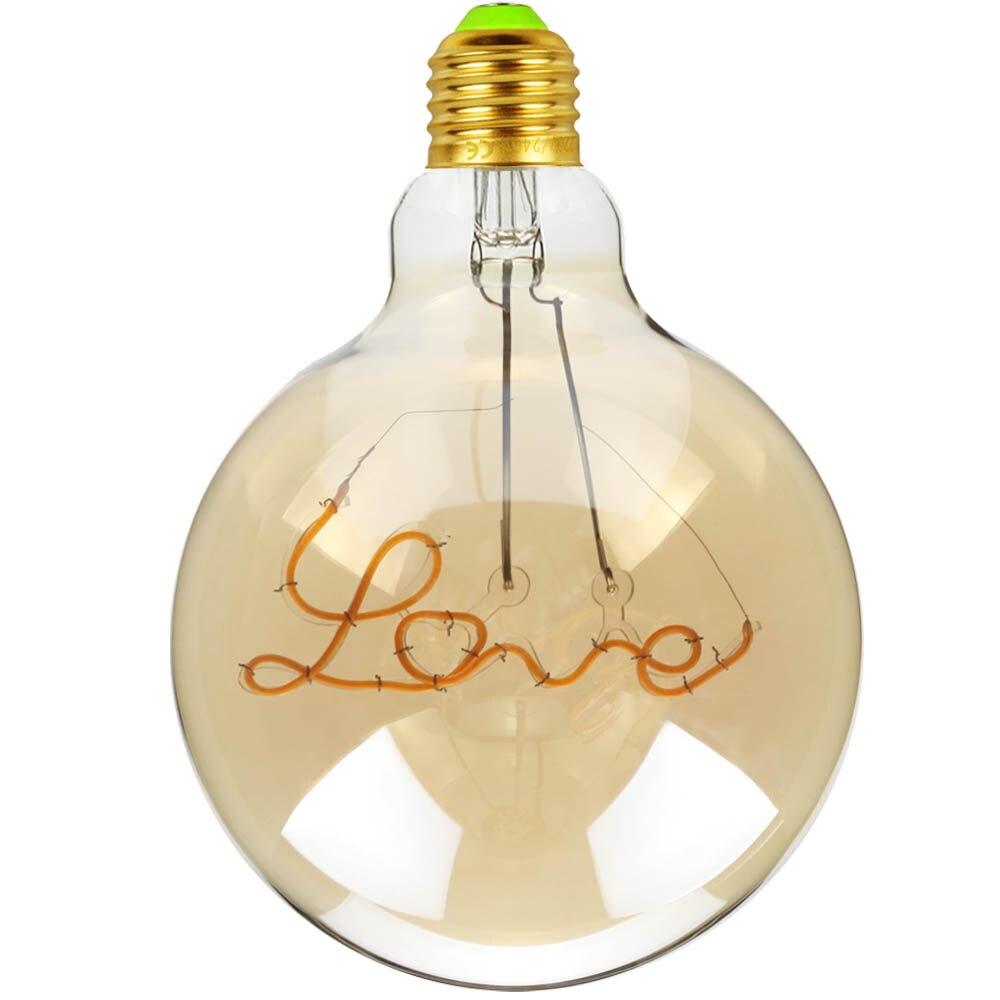 Lâmpada de Filamento LED G125 LOVE 4W Bivolt