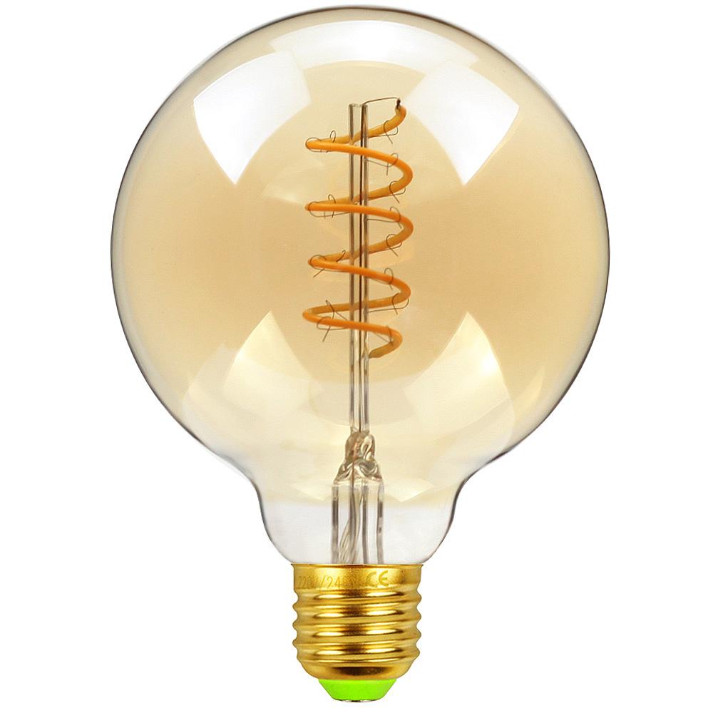 Lampada de Filamento LED G80 Spiral 4W Bivolt