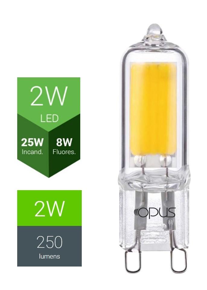 Lâmpada LED G9 2W 2400K 127V - Opus