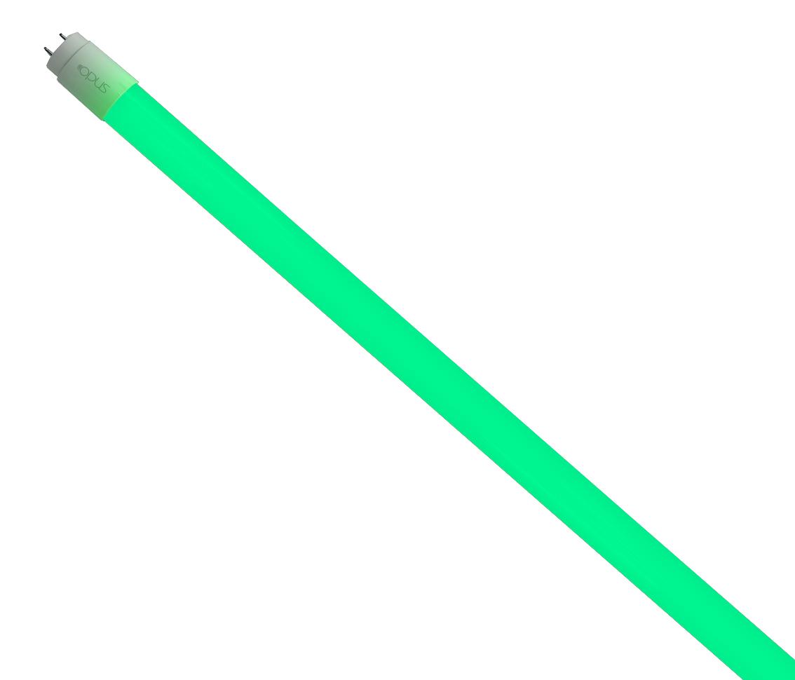Lâmpada Tubular T8 18W Verde Bivolt