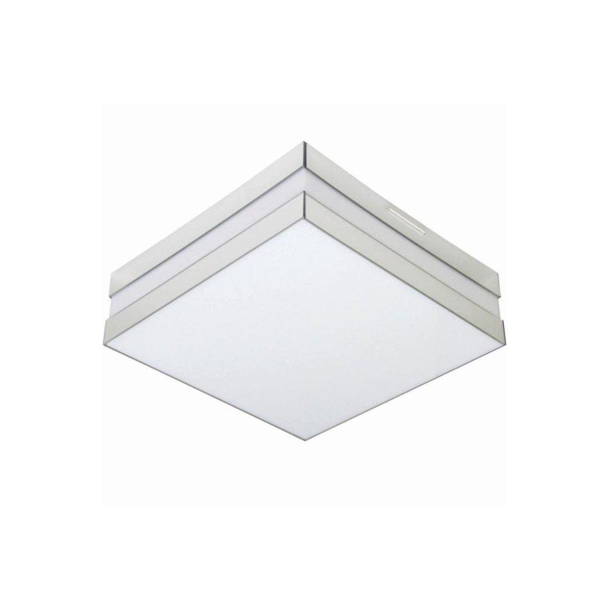 Luminária LED 16W 3000k Sobrepor Bilbao 26x26 Tualux