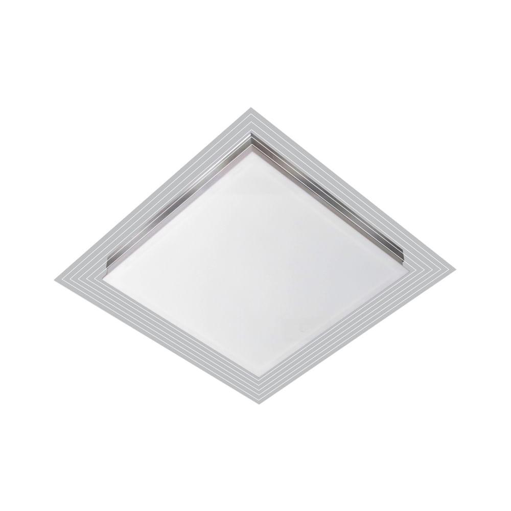 Luminária LED 25W 3000k sobrepor Lisboa 49x49 Tualux