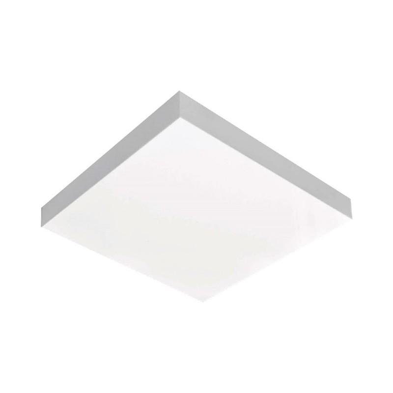 Luminária LED 25W 3000k sobrepor Valencia 36x36 Tualux