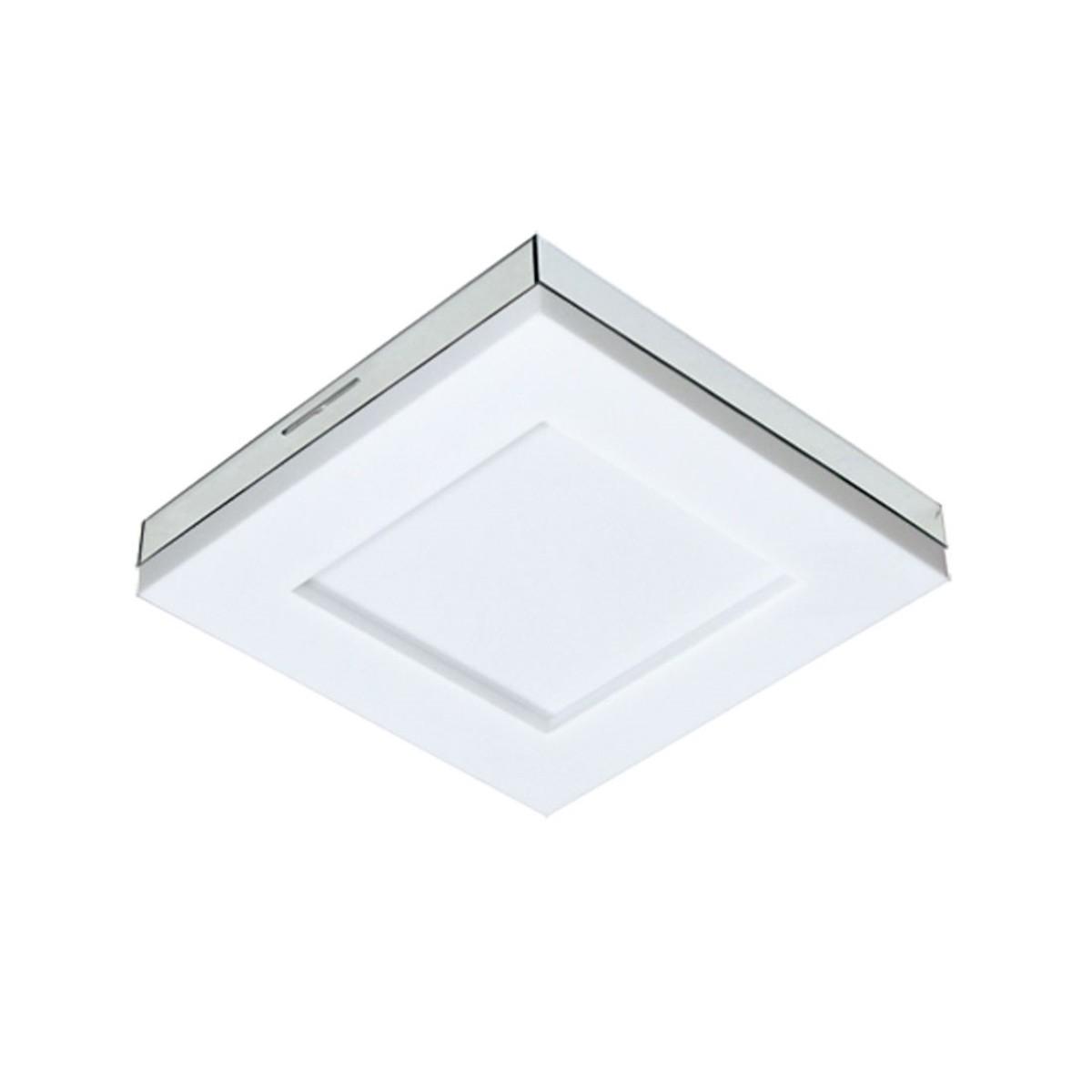 Luminária LED 25W sobrepor Branco Asturias 3000k Tualux