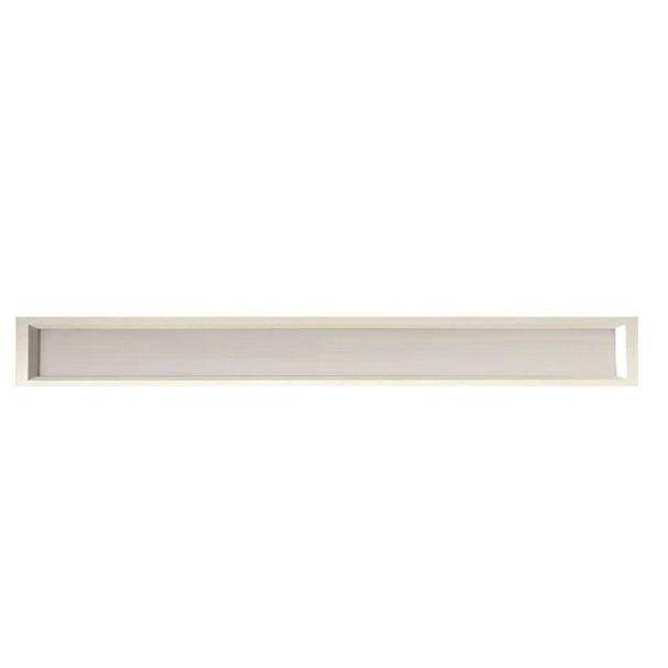 Luminária LED tube 2x120 embutir branco Sevilha 6500k Tualux