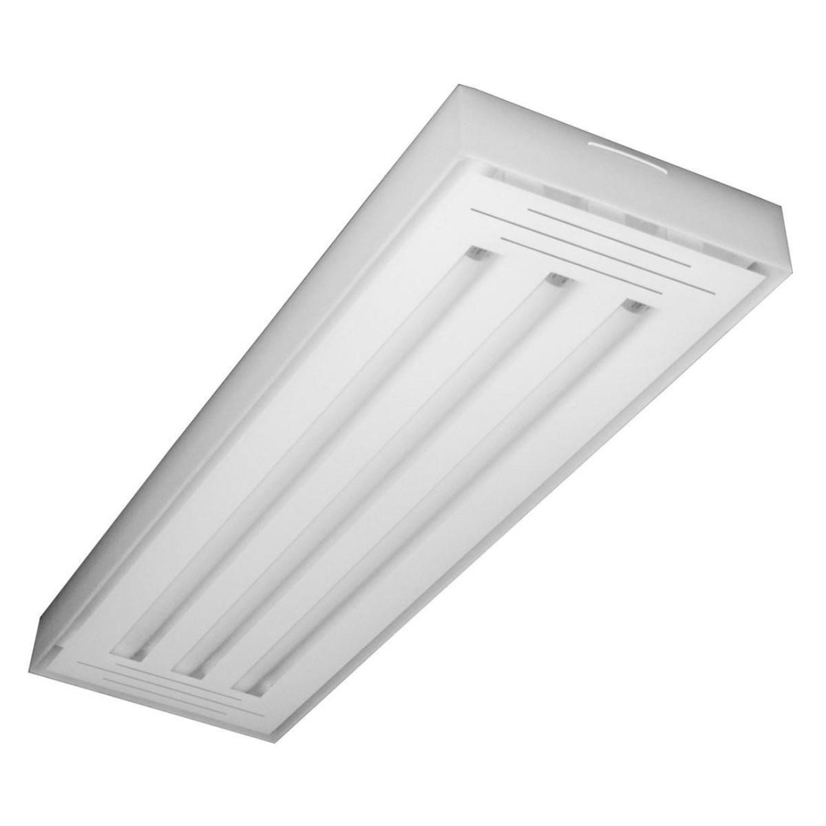 Luminária LED Valencia 3x120 sobrepor branco 6500k Tualux