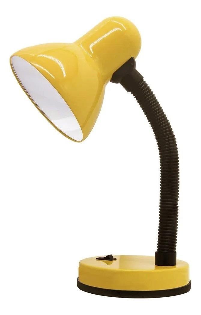 Luminaria Mesa Abajur Articulavel Copa Flexivel Amarelo