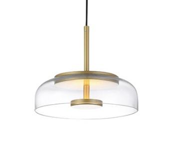 Luminária Pendente Goblet 3000k Dourado Bivolt