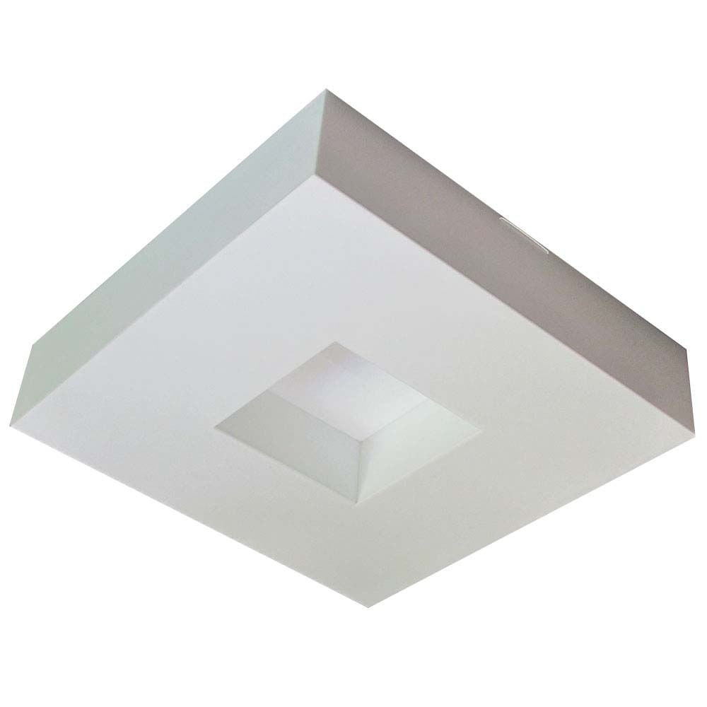 Luminária Quadrado Para 4 Lâmp. Asturias 36x36 Bco Tualux