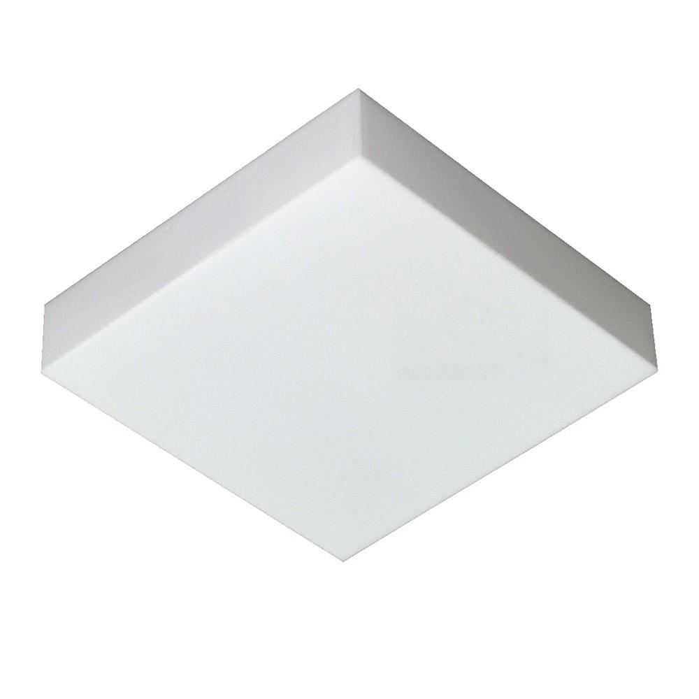 Luminária Valencia Quadrado Sobrepor Bco p/ 4 lâmp. Tualux