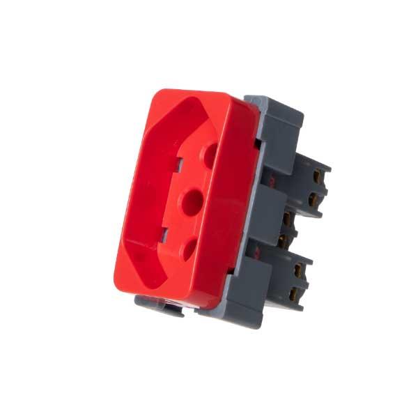 Modulo Tomada 2P+T 20A 250V Vermelho - MARGIRIUS