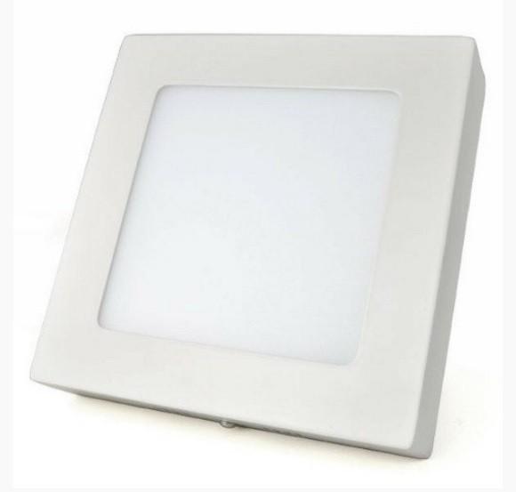 Painel LED de Sobrepor Quadrado 12w 3000k