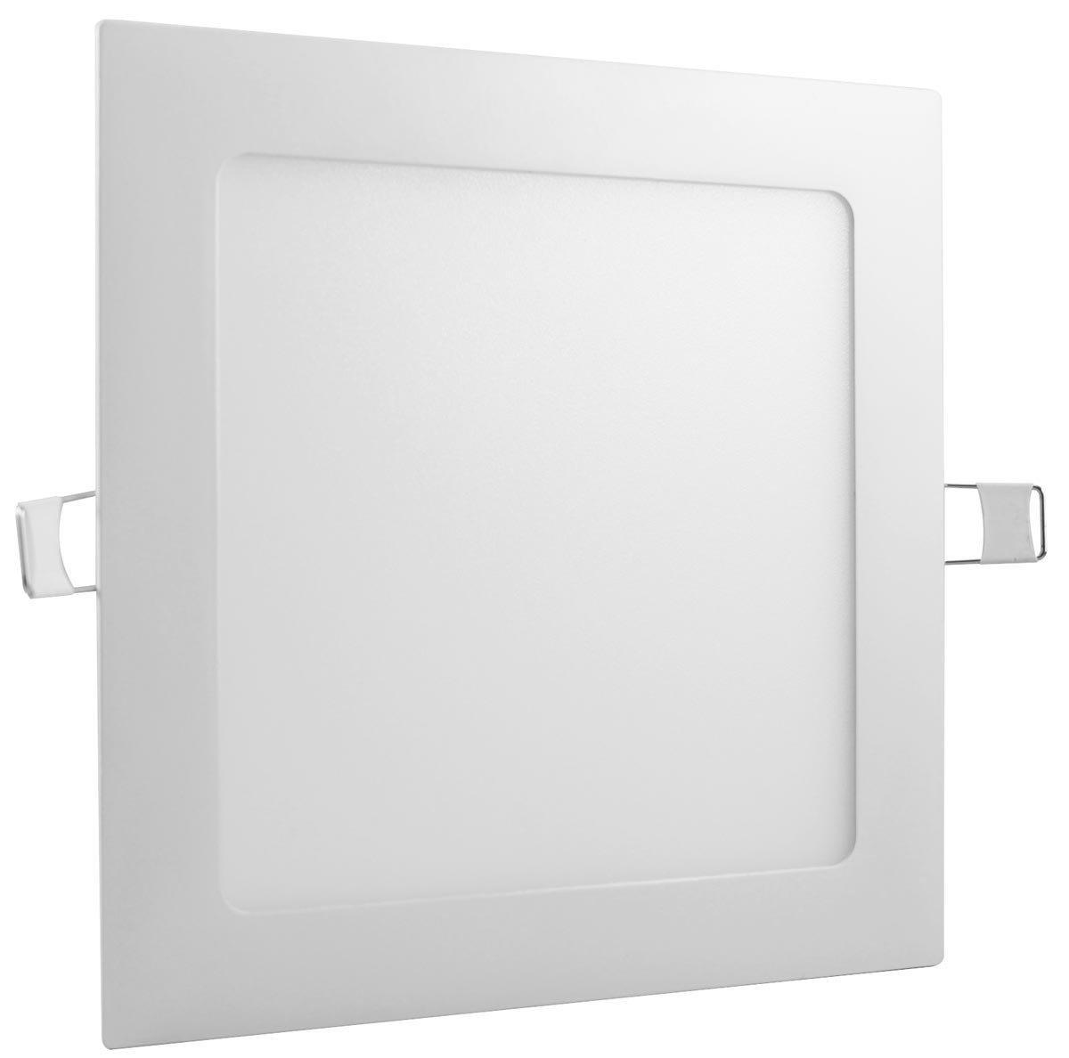 Painel Led Embutir 12w Quadrado 6500k - Luz Sollar