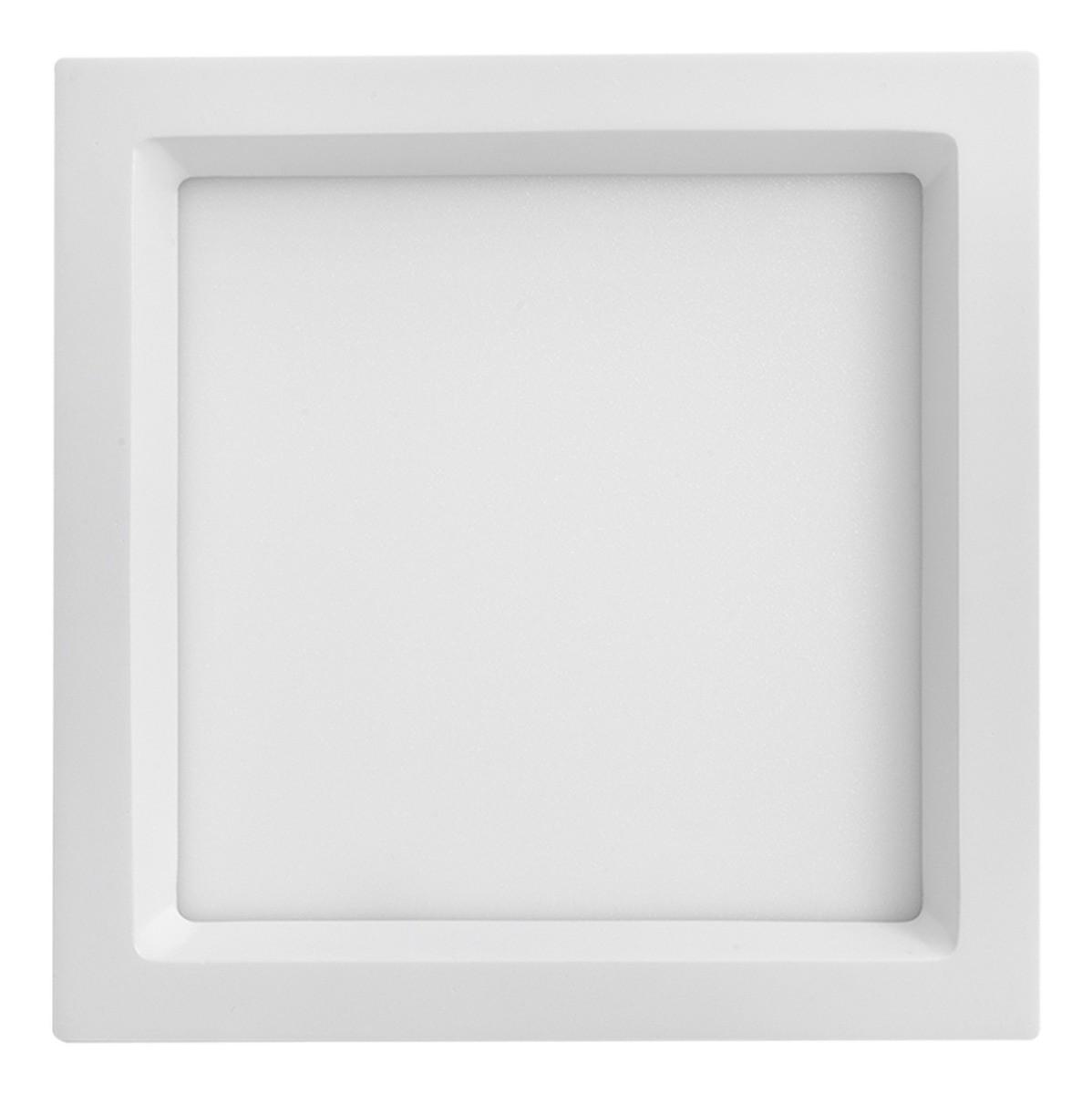 Painel Led Embutir Recuado 22w Quadrado 3000k Branco