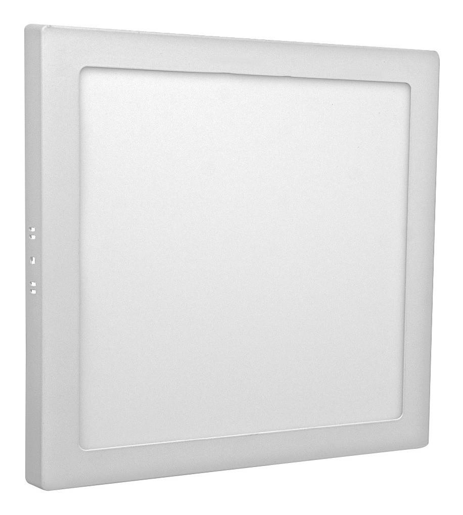 Painel Led Sobrepor 36w Quadrado 3000k - Luz Sollar