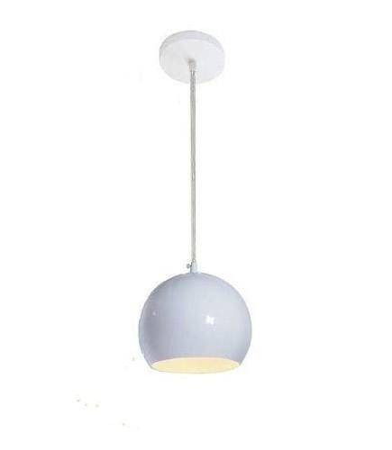 Pendente Alumínio Ball 1xE27 Branco - Luz Vita