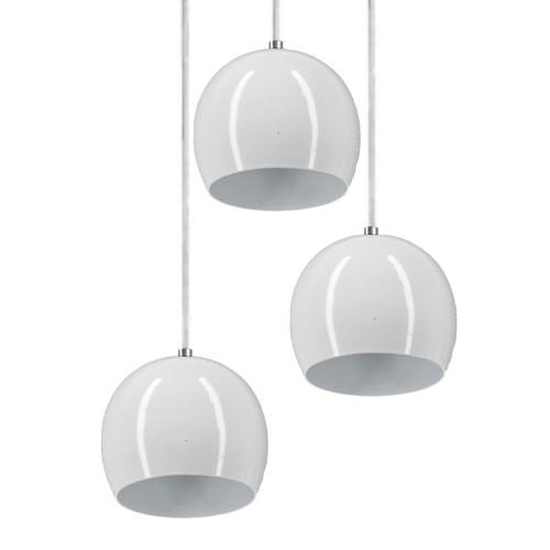 Pendente Ball 3 Lamp Branco - LUZ VITA