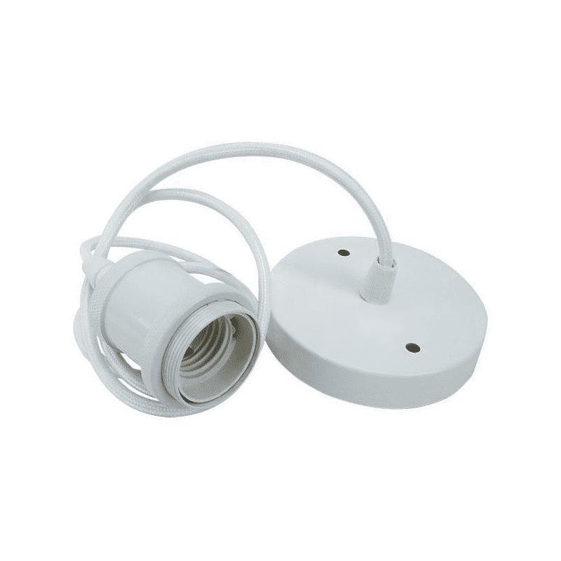 Pendente Simples Retro A1 E27 Rosca Branco