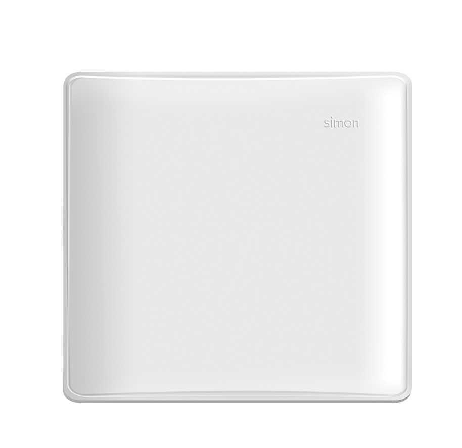Placa 4x4 Cega com Suporte Branca - SIMON