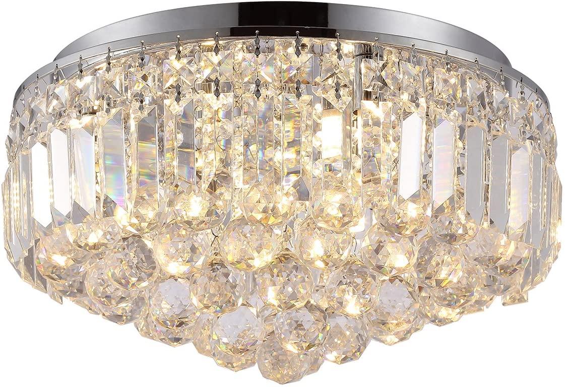 Plafon Bella Iluminação Kri Cromado/Transparente