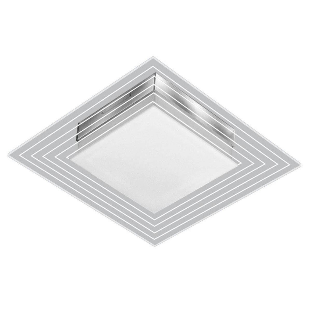 Luminária Led 9w Sobrepor Branco Lisboa Quadrado 3000k - Tualux