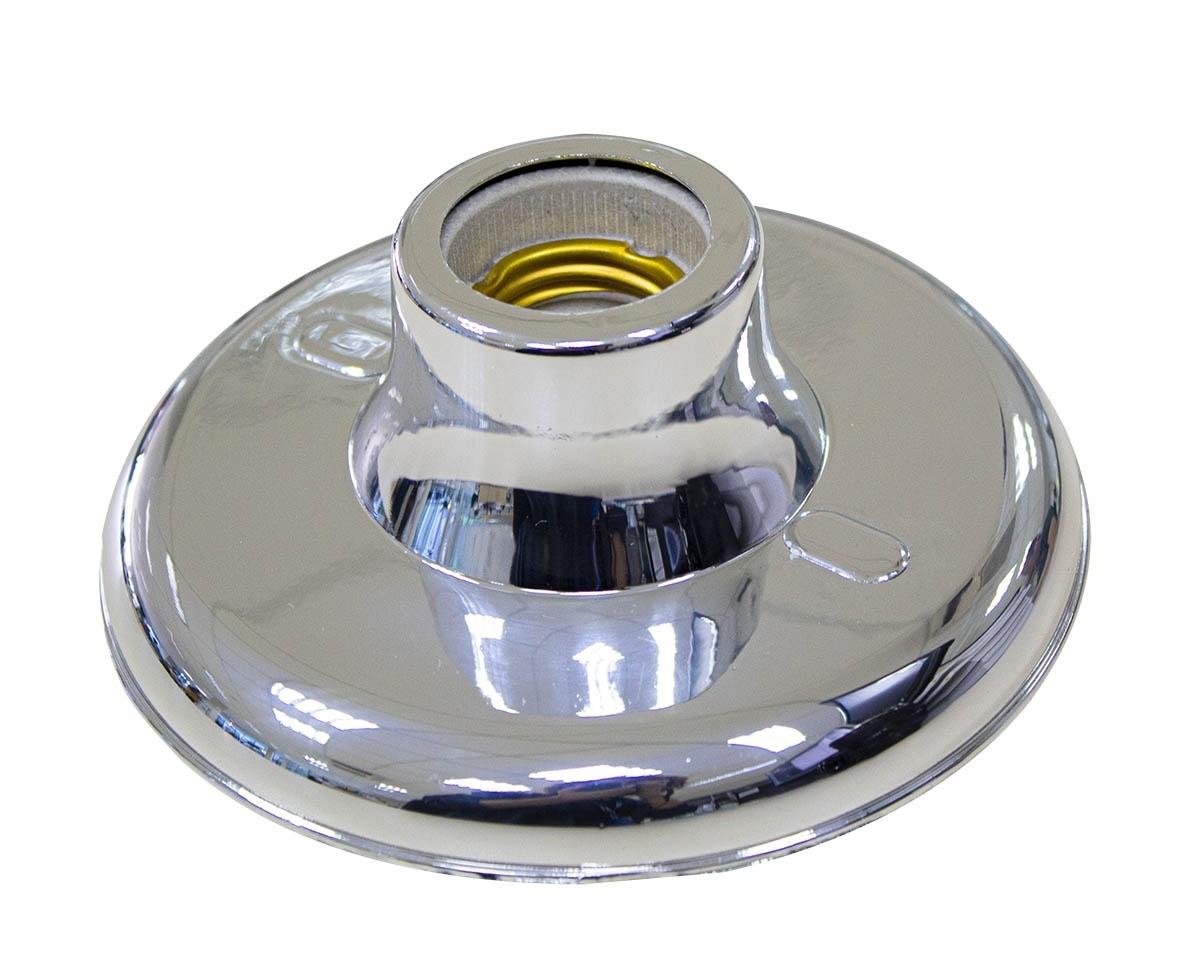 Plafonier E27 Porcelana Plastico Cromado