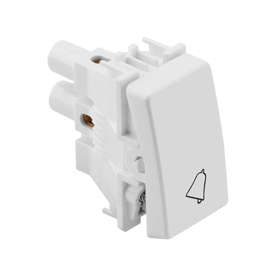 Pulsador de Campainha Branco 10A 250V - SIMON