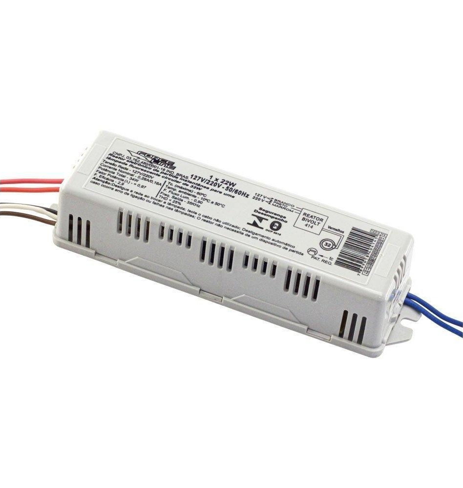 Reator Eletrônico 1x22w P/ Lâmpada Circular - ForceLine