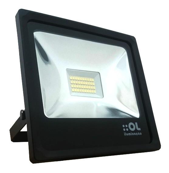 Refletor 70w LED  6500k Bivolt - OL Iluminação