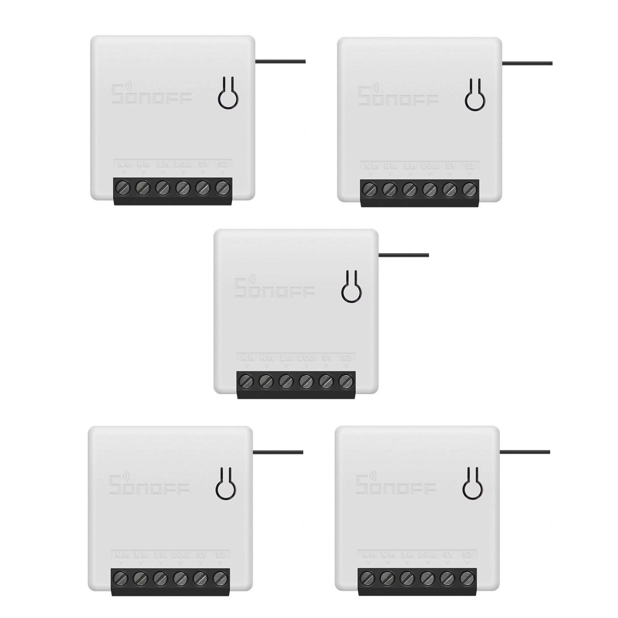 Kit 5 Sonoff Mini Smart Switch 1 Canal