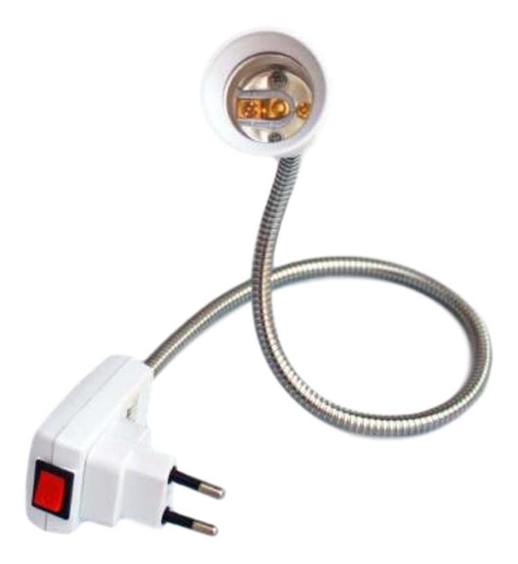 Soquete Flexível 60cm Para Lâmpada E27 Com Tomada - Bestfer