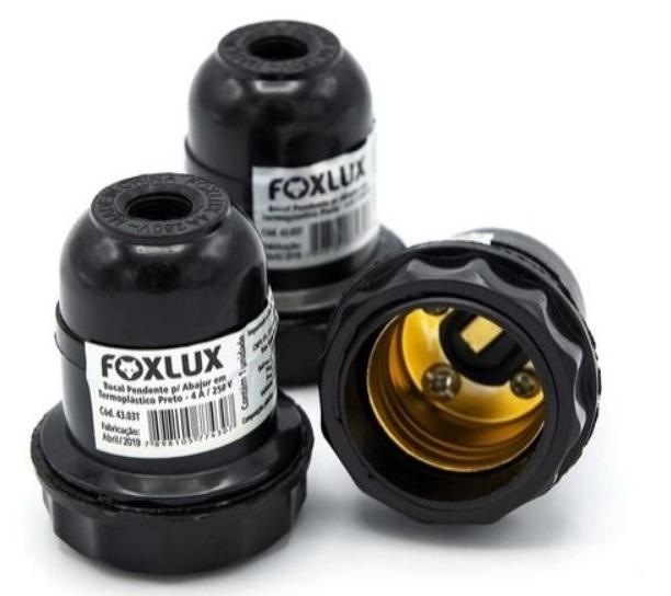 Soquete para Abajur Preto FoxLux