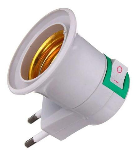 Soquete Tomada E27 com Interruptor