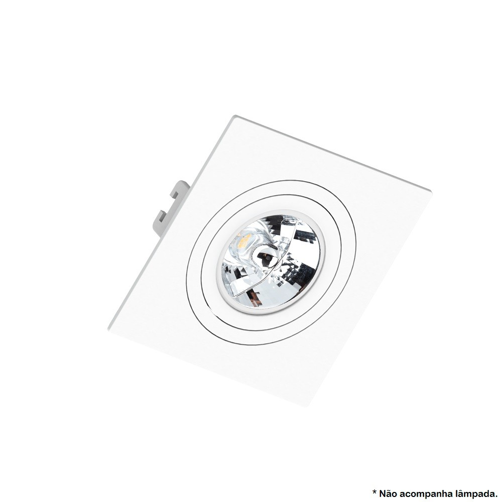 Spot Embutir AR70 Quadrado Branco Face Plana - SAVEENERGY