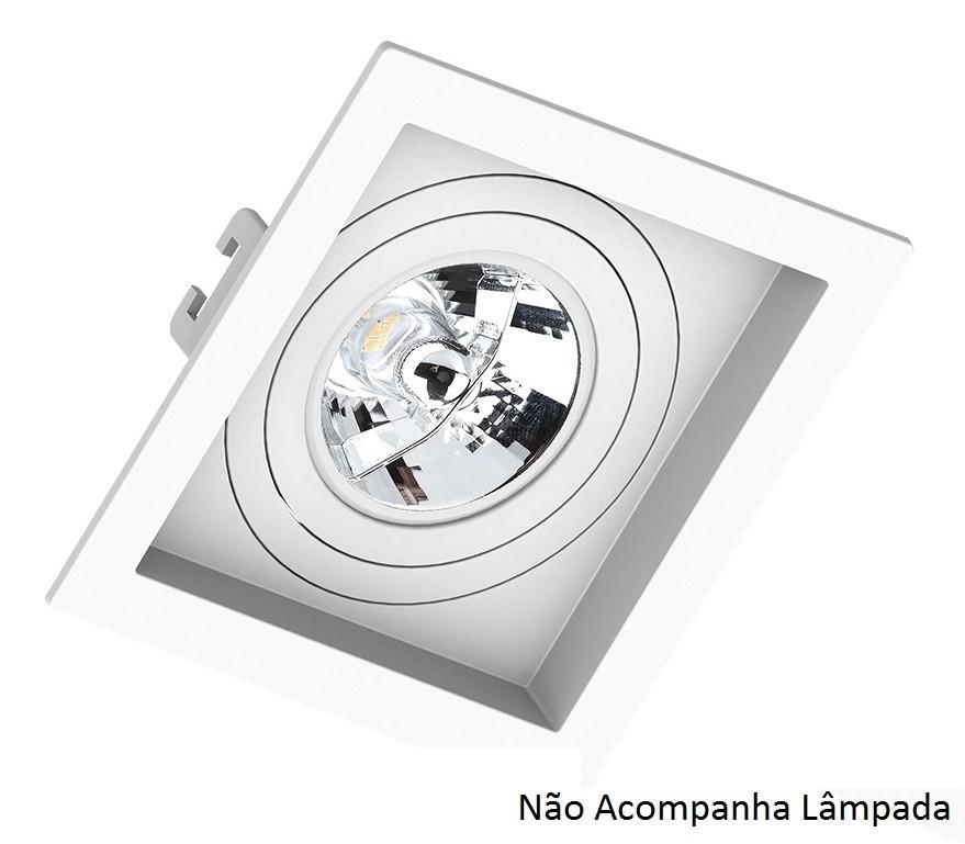 Spot Embutir AR70 Quadrado Branco Recuado SaveEnergy